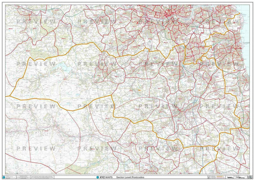 DH Postcode Map PDF or GIF Download