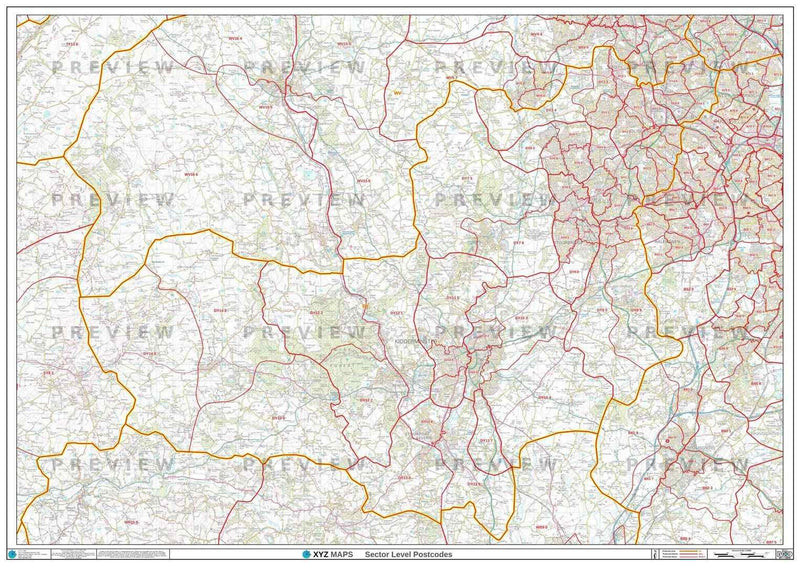 DY Postcode Map PDF or GIF Download