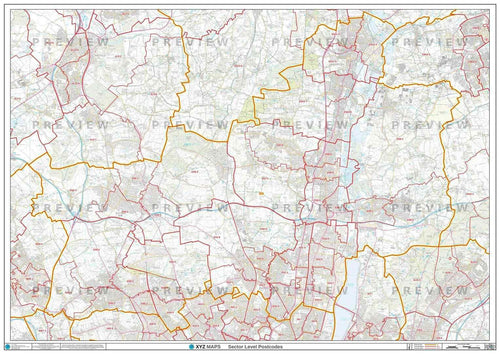 Enfield Postcode Map - Full Sheet