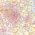 England & Wales Postcode District Map Birmingham Detail