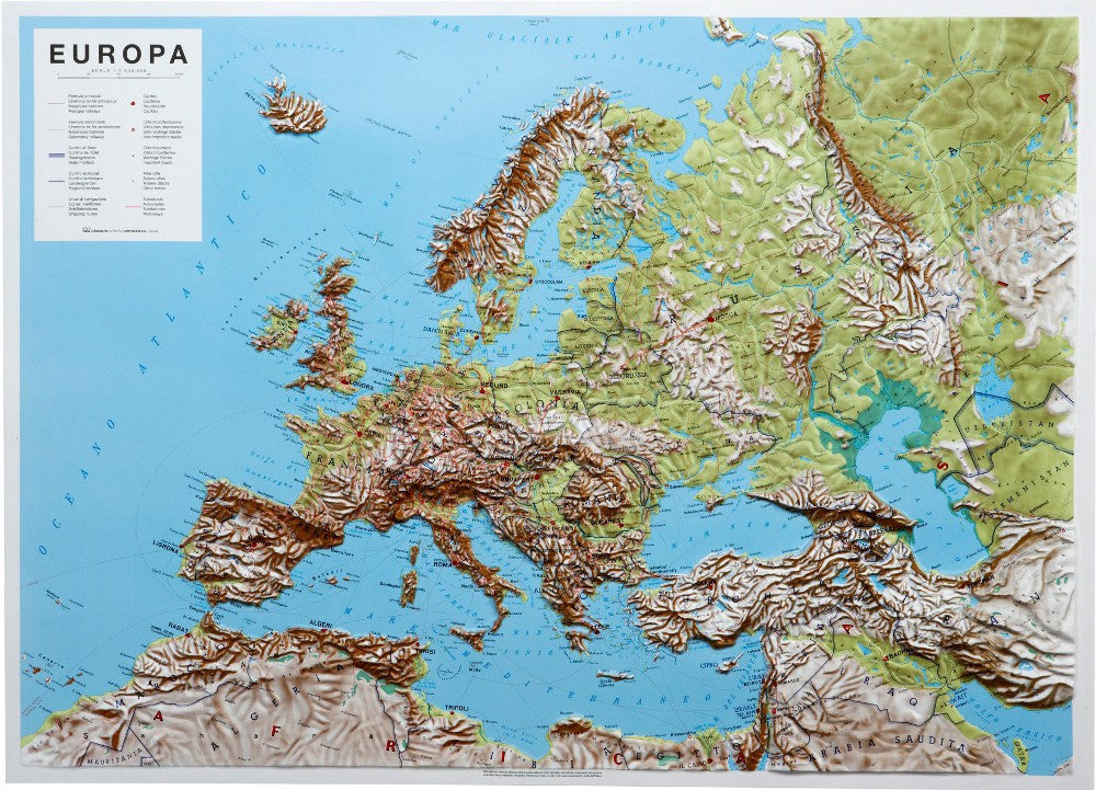 europe 3d relief map map logic