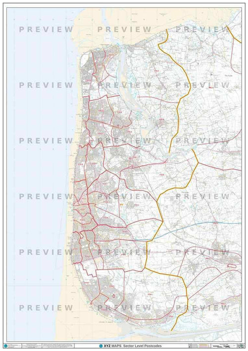 FY Postcode Map PDF or GIF Download