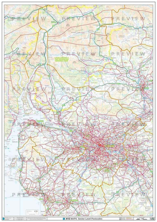 G Postcode Map PDF or GIF Download
