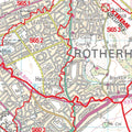 A closer look at the Sheffield Area Postcode map