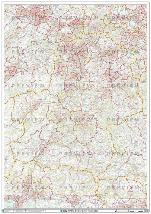 GU Postcode Map PDF or GIF Download
