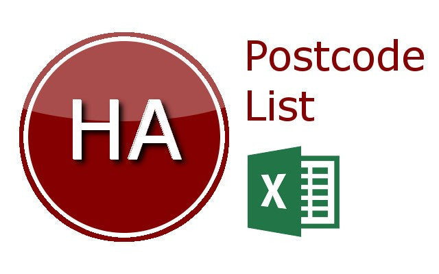 Harrow Postcode Lists