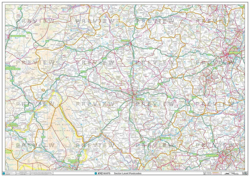 HR Postcode Map PDF or GIF Download