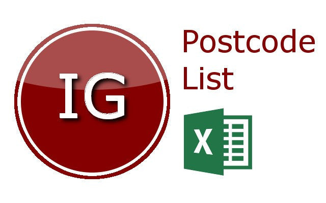 Ilford Postcode Lists