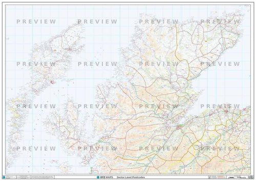 IV Postcode Map PDF or GIF Download