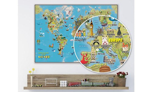 Kids Illustrated Map of the World
