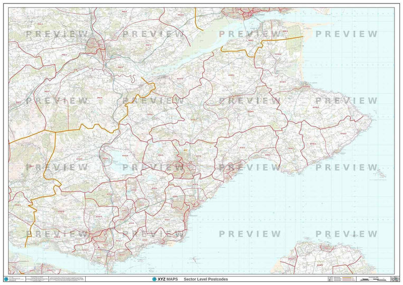 KY Postcode Map PDF or GIF Download
