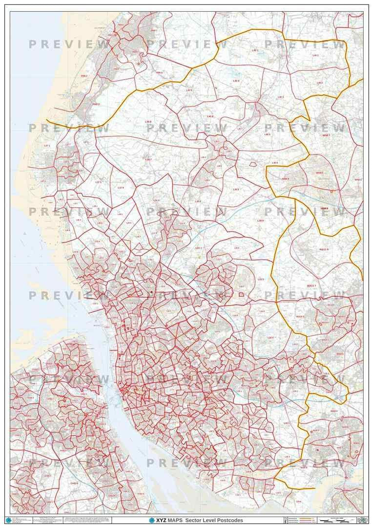 L Postcode Map PDF or GIF Download