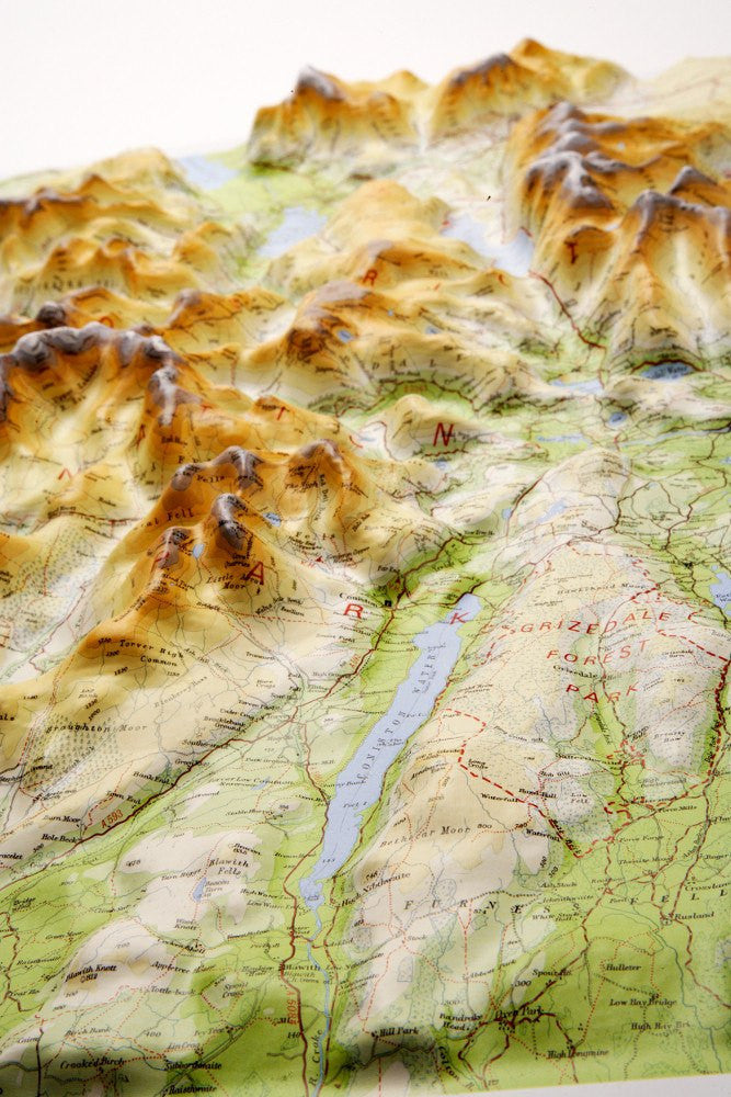 relief map of lake district Lake District 3d Relief Map Map Logic relief map of lake district