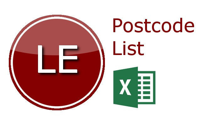 Leicester Postcode Lists