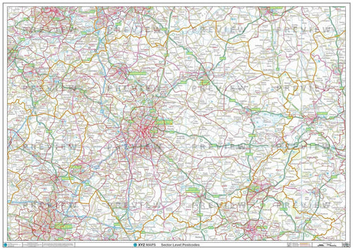 LE Postcode Map PDF or GIF Download