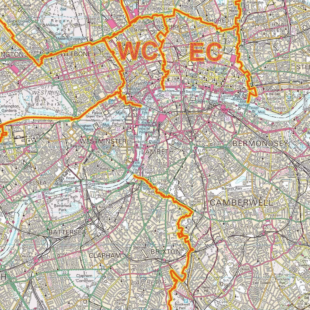 London Postcode Area Map A1 Map Logic