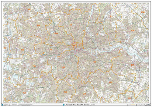 London Postcode Areas Map Overview