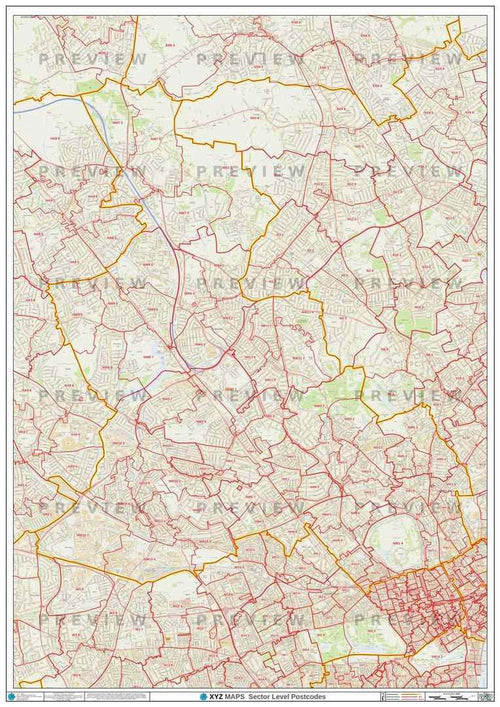 NW London Postcode Map PDF or GIF Download