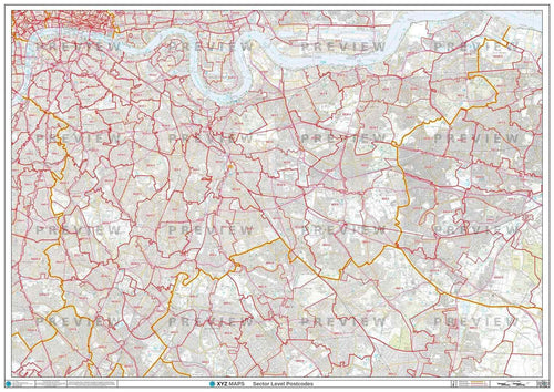 SE London Postcode Map PDF or GIF Download