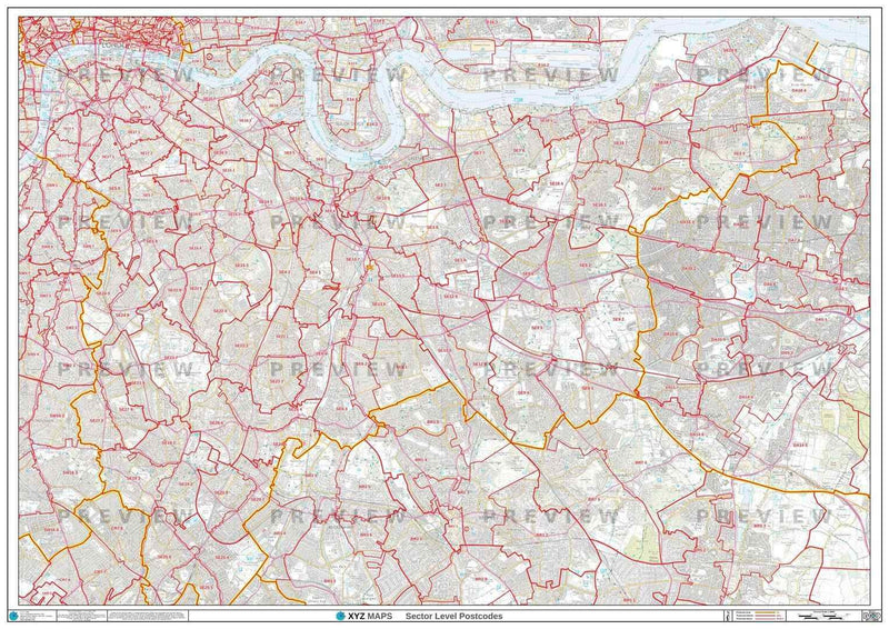 Map Se London.London Postcode Map For The Se Postcode Area Gif Or Pdf Download