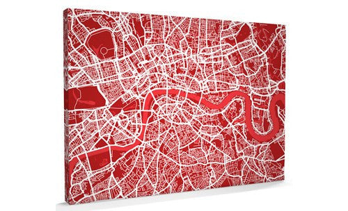 Depth of the London Street Art Map Canvas