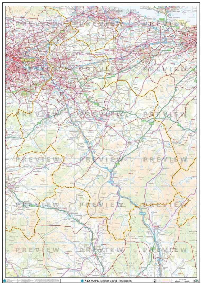 ML Postcode Map PDF or GIF Download