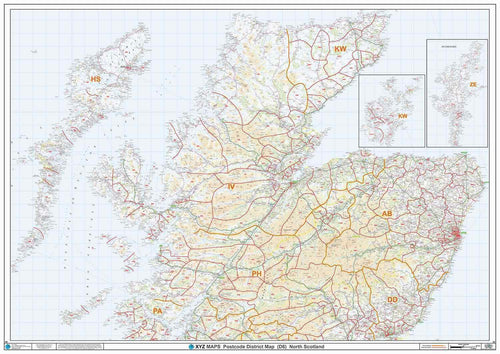 Northern Scotland Postcode District Map