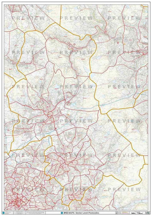 OL Postcode Map PDF or GIF Download