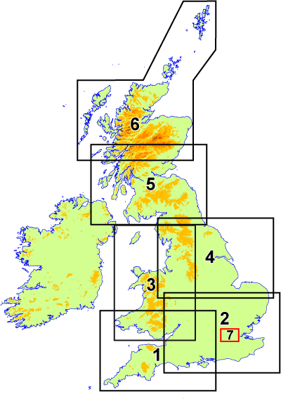 Incidence of GB Postcode map sheets