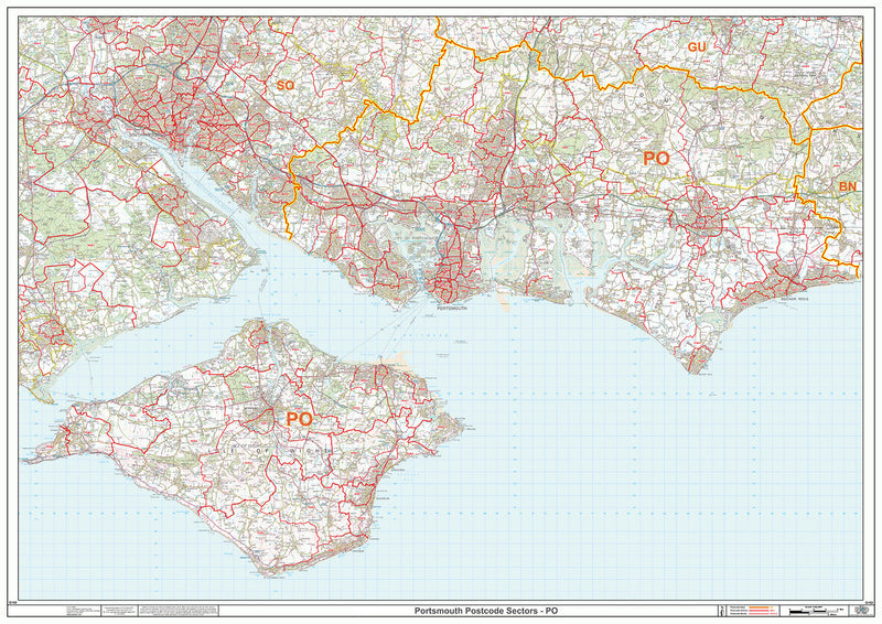 Portsmouth Postcode Map