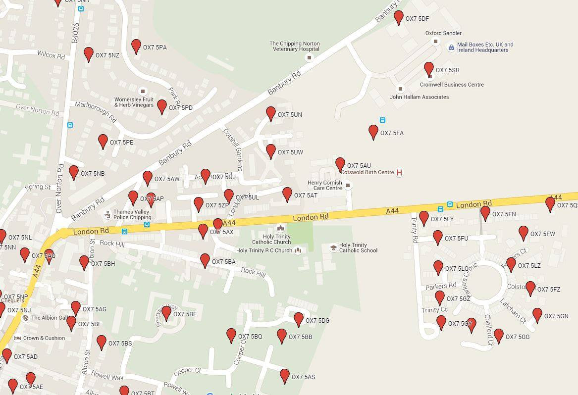 Postcode locations with latitude longitude for geocoding map logic postcode latitude longitude locations in google maps gumiabroncs Images