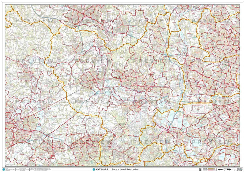 SL Postcode Map PDF or GIF Download