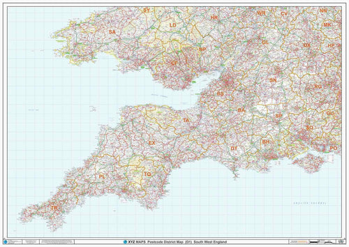 South West England Postcode District Map Sheet