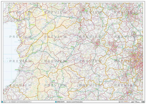 SY Postcode Map PDF or GIF Download
