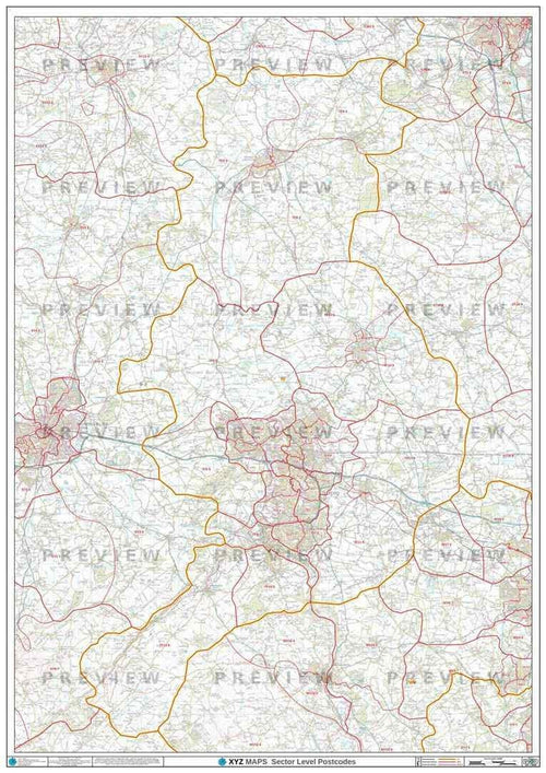 TF Postcode Map PDF or GIF Download
