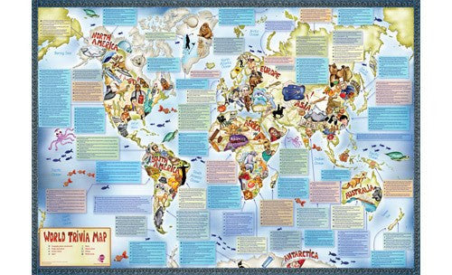 Childrens Illustrated Trivia World Map