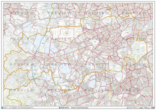 TW Postcode Map PDF or GIF Download