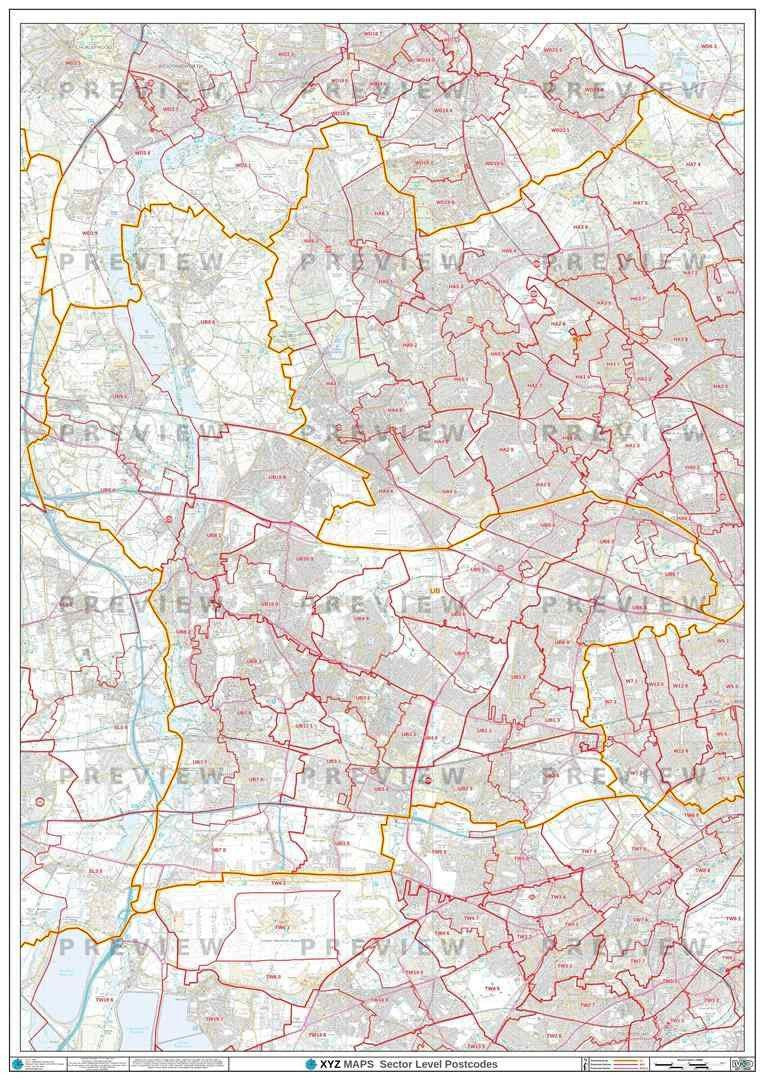 UB Postcode Map PDF or GIF Download
