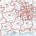 UK Postcode Map - South