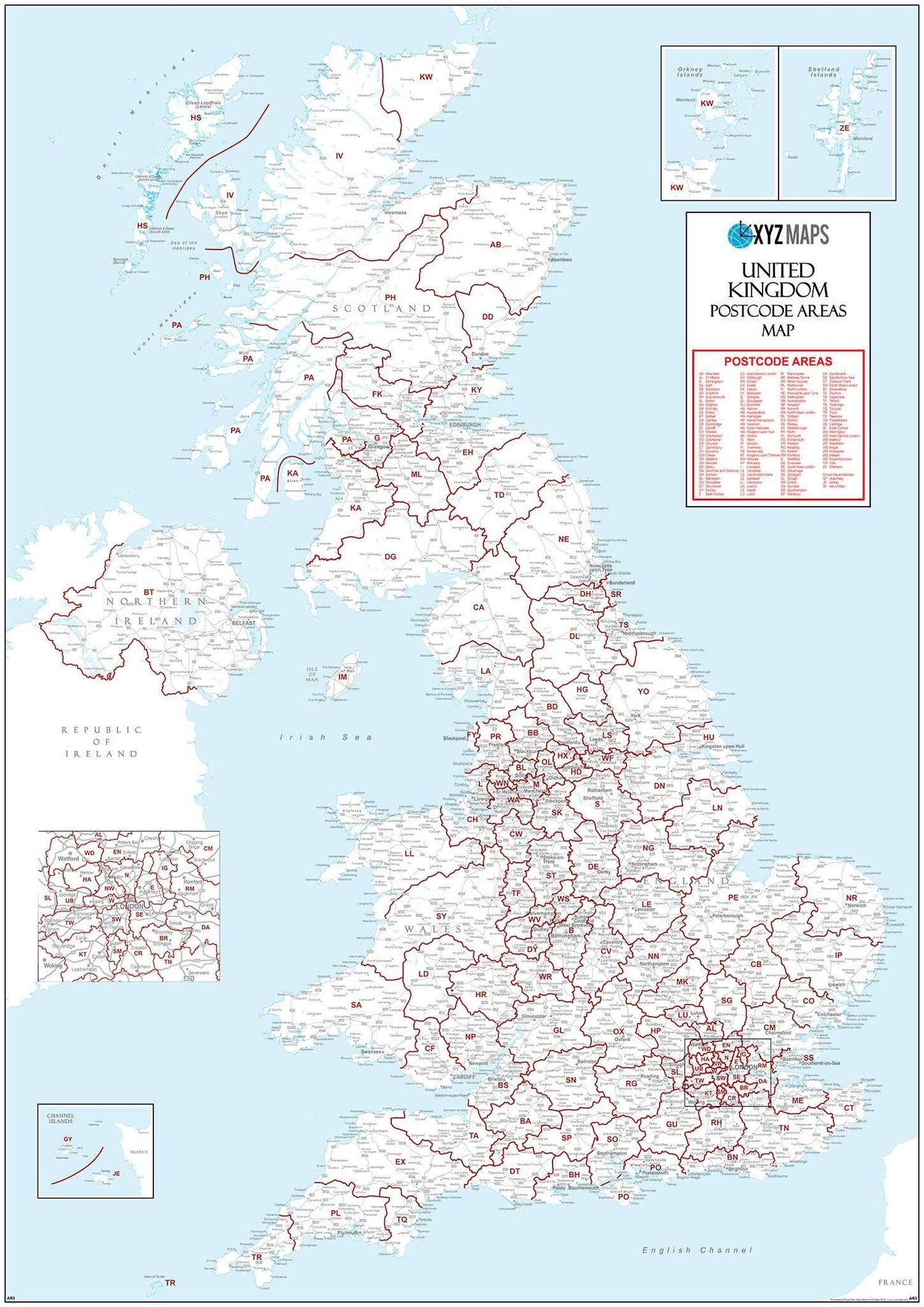 Map Of Uk With Postcodes.Uk Postcode Area Map Gif Or Pdf Download Ar3 Map Logic