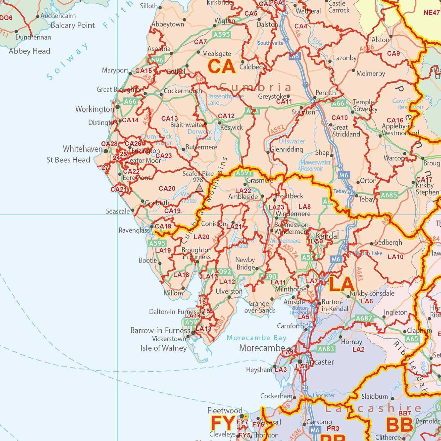 UK Postcode District Map GIF Or PDF Download  Map Logic - World map with latitude and longitude lines pdf