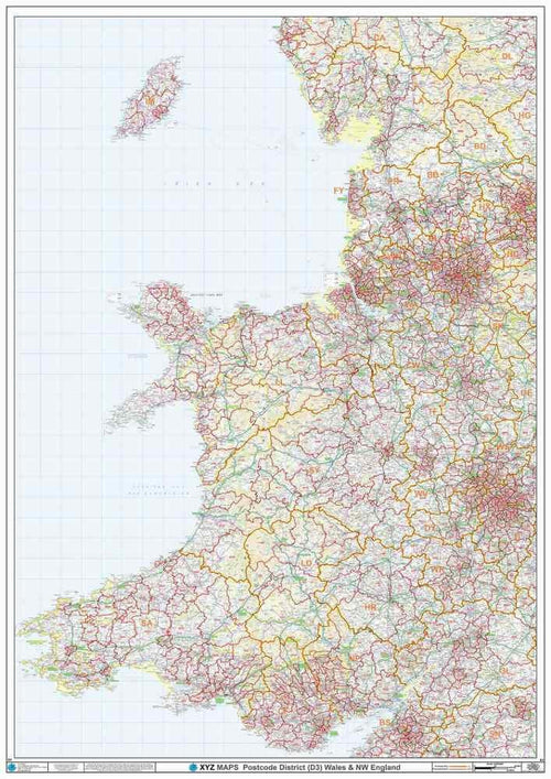 Wales Postcode District Map Sheet