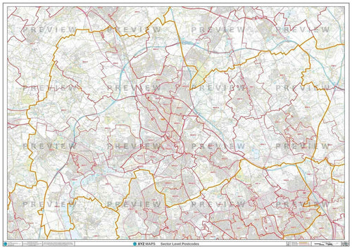 WF Postcode Map PDF or GIF Download
