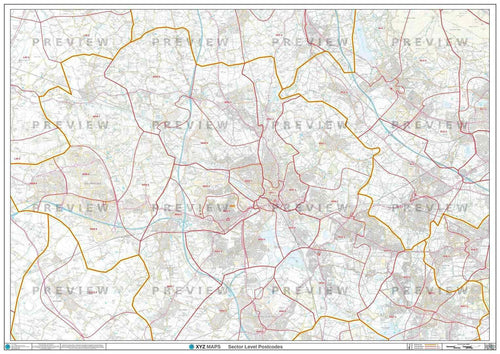 WN Postcode Map PDF or GIF Download