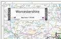 Map of Worcestershire County