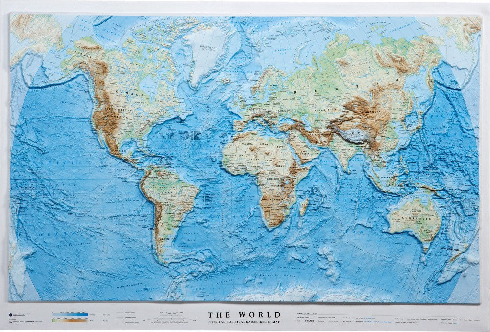 Relief Map Of The World.World 3d Relief Map Map Logic