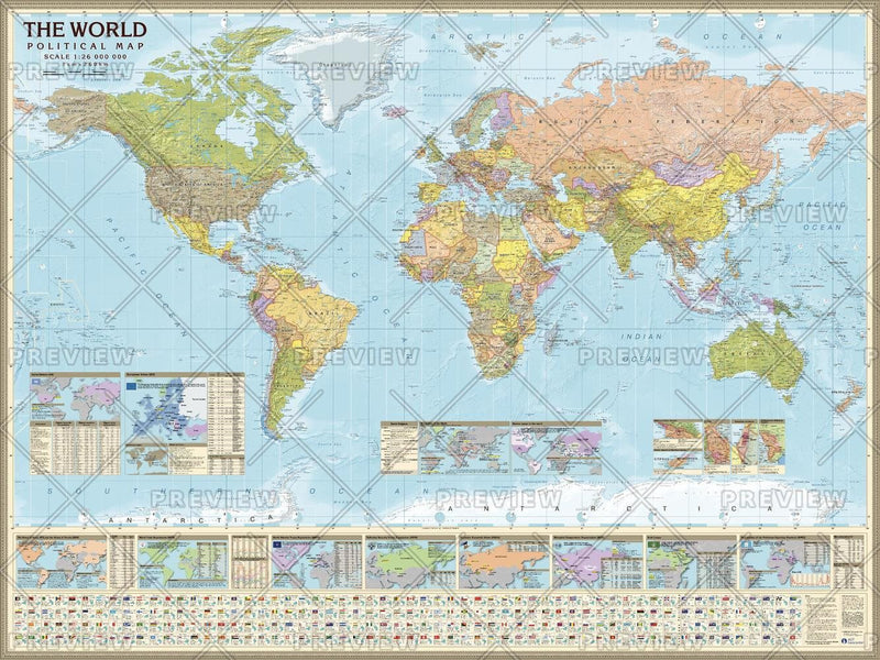 Political World (Miller projection) Eng