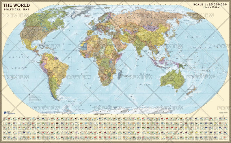 Political World (Robinson projection) Eng