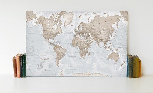 World Is Art Wall Canvas - Neutral