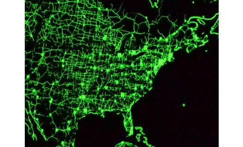 Glow in the dark world map map logic glow in the dark world map poster at night gumiabroncs Gallery